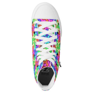 Rainbow Sneakers with Fidget Spinner Design