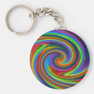 Rainbow Solar Glow Key Ring