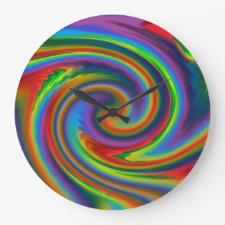 Rainbow Solar Glow Large Clock