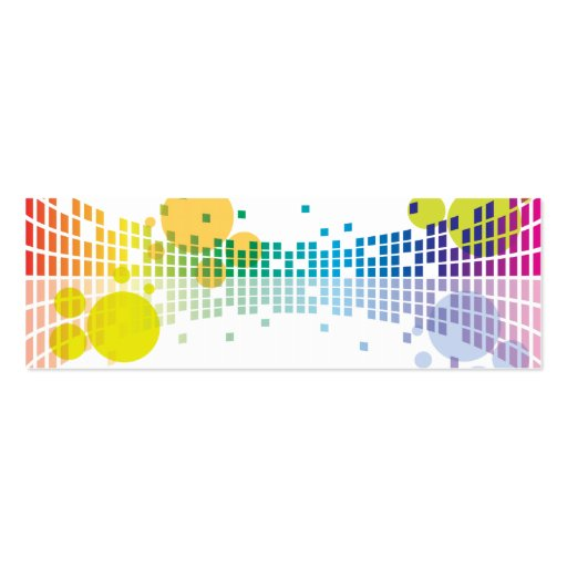 rainbow sound waves II abstract Business Card