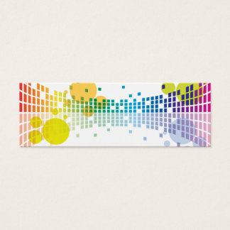 rainbow sound waves II abstract Mini Business Card