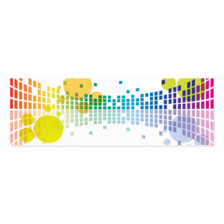 rainbow sound waves II abstract Pack Of Skinny Business Cards