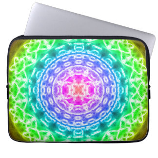 Rainbow Source Mandala Computer Sleeve