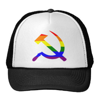 Rainbow Soviet Hammer And Sickle Cap