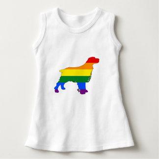 Rainbow Spaniel Dress