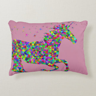 Rainbow Sparkle Unicorn Pillow