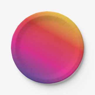 Rainbow Spectrum Colorful 7 Inch Paper Plate