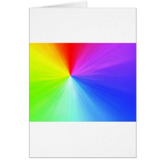 Rainbow spectrum design card