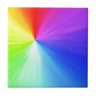 Rainbow spectrum design ceramic tile