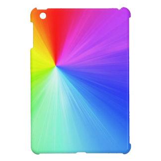 Rainbow spectrum design iPad mini cover