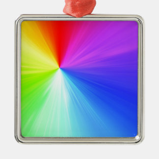 Rainbow spectrum design metal ornament