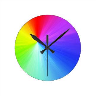 Rainbow spectrum design round clock