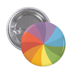 Rainbow Spinning Wheel 3 Cm Round Badge