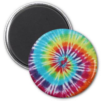 Rainbow Spiral 6 Cm Round Magnet