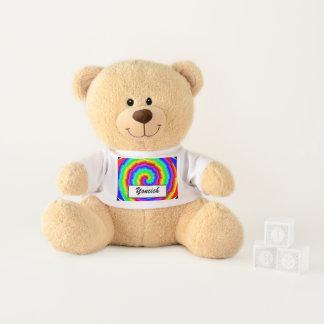 Rainbow Spiral by Kenneth Yoncich Teddy Bear