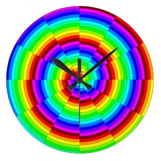 Rainbow Spiral by Kenneth Yoncich Wall Clocks