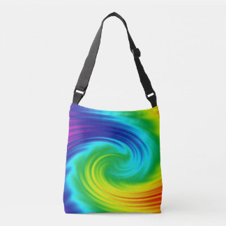 Rainbow spiral crossbody bag