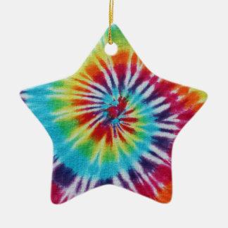 Rainbow Spiral Ceramic Star Decoration