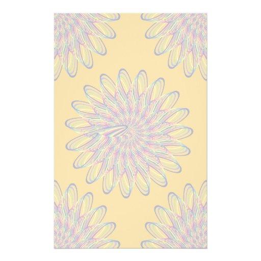Rainbow Spiral Flower Design - Orange Background Stationery Design