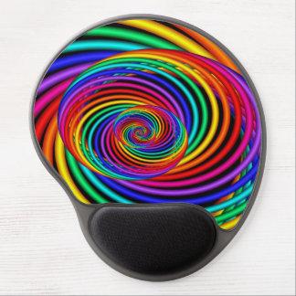 Rainbow Spiral Fractal Gel Mouse Pad