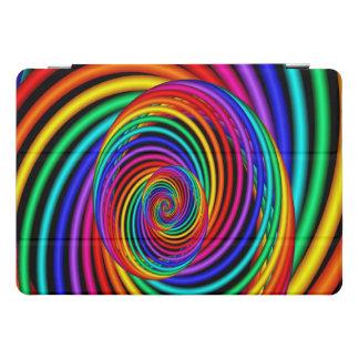Rainbow Spiral Fractal Ipad Case