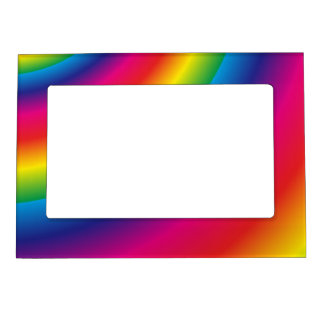 Rainbow Spiral Magnetic Picture Frame