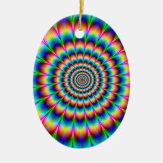Rainbow Spiral Optical Illusion Ornaments