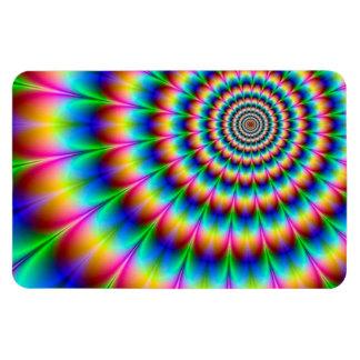 Rainbow Spiral Optical Illusion Rectangular Magnets