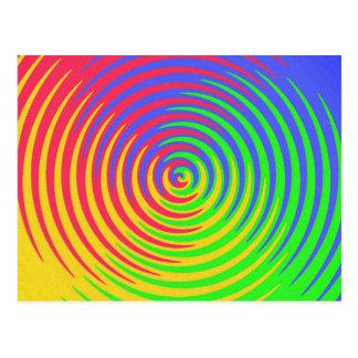 Rainbow Spiral Postcard