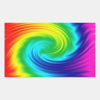 rainbow spiral rectangular sticker