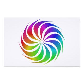 Rainbow spiral stationery
