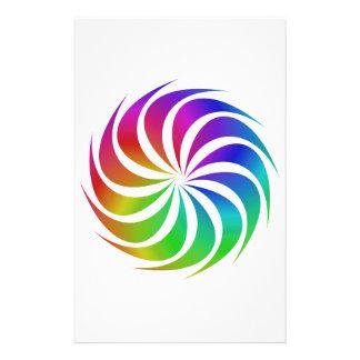 Rainbow spiral customized stationery