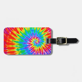 Rainbow Spiral Tie Dye Luggage Tag