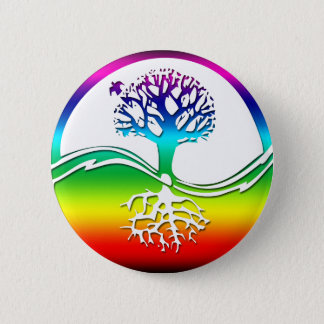 Rainbow Spirit Tree (Balance) 6 Cm Round Badge