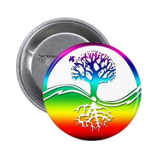 Rainbow Spirit Tree (Balance) 6 Cm Round Badge