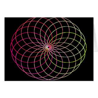 Rainbow Spirograph Card