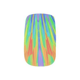 Rainbow Splash Minx Nail Art