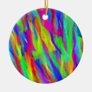 Rainbow Splashes Christmas Tree Ornaments