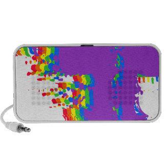 Rainbow Splatter Doodling Travelling Speakers