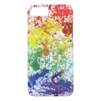 Rainbow splatter fun iPhone 7 case