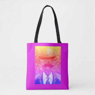 Rainbow Splatter Man Tote Bag