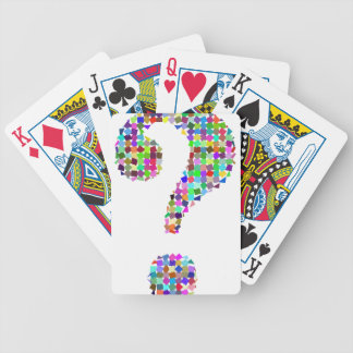 Rainbow Splatter Question Mark Bicycle Playing Cards