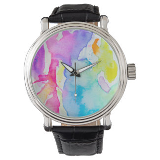 Rainbow Splatter Watch By Megaflora