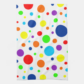 Rainbow Spots Kitchen Towel