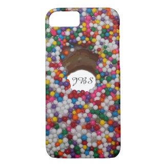 Rainbow Sprinkle Donut Hole Monogram iPhone 8/7 Case