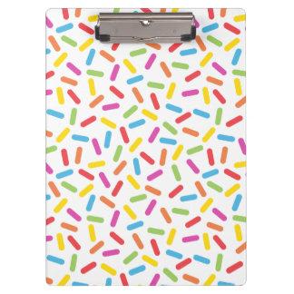 Rainbow Sprinkles Clipboard