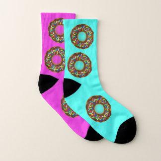 rainbow sprinkles donut - socks