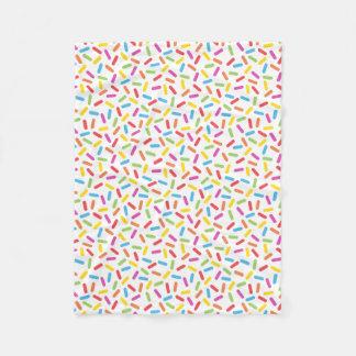 Rainbow Sprinkles Fleece Blanket