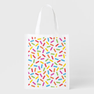 Rainbow Sprinkles Reusable Grocery Bag
