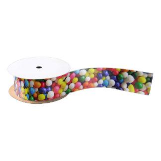 Rainbow sprinkles satin ribbon
